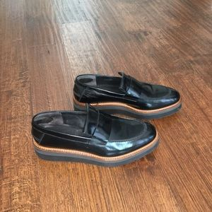 Vince black loafers